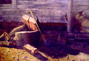 Painting: Winter Kindling