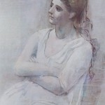 Pablo Picasso: A Woman in White
