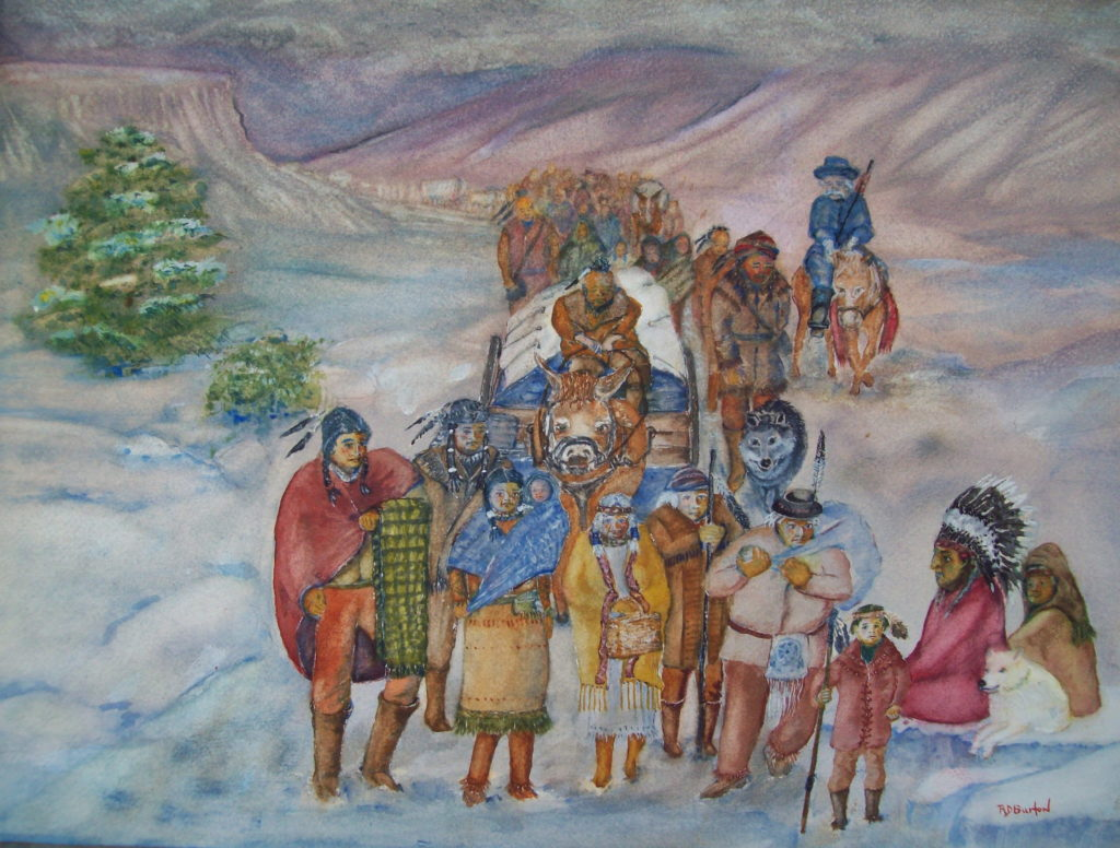tears during homework trail of tears watercolor wet in wet richard d burton