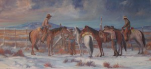 "Lynn Burton: ""Ready to Ride"" (oil on canvas)"