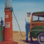 "R. D. Burton: ""The Old Woodie"" (Acrylic on Board~2012)"