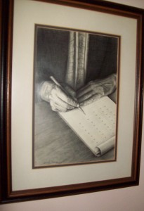 "Artist: James Frederick: ""The List"" (Graphite on paper)"
