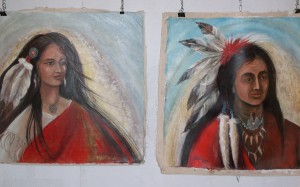 Lynn Burton: American Indians (Oil on Canvas)