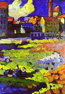 Wassily Kandinsky: Munich-Schwabing with the Church of St. Ursula (1908)