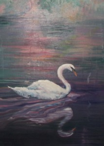 "Lynn Burton: Segment of ""Swan Lake Reflections"" Showing hard and soft edges"