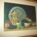 James Fredrick: Plate, Fruit, and Coffee Pot