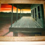 James Frederick :The Empty Chair (Oil on Board)