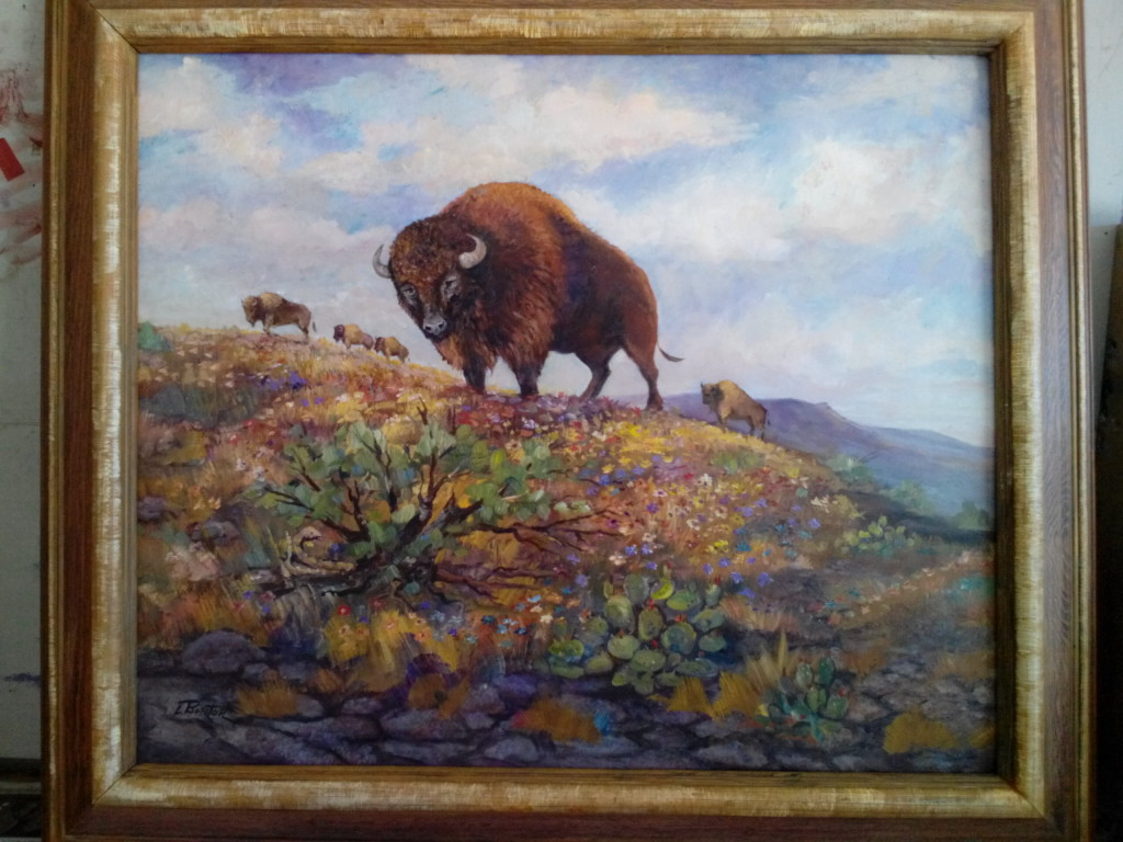 """King of the Hill"" : Oil on Canvass - Lynn Burton"