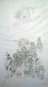 Graphite Drawing: Wailing Spirit - Trail of Tears