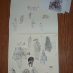 Cut outs of different figures for graphite composition