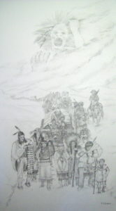 Anguished Spirit (Trail of Tears) Graphite on Paper