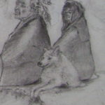 portion of drawing: Anguished Spirit-Trail of Tears