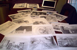 graphite drawings for Curse of St. Croix (Prologue)